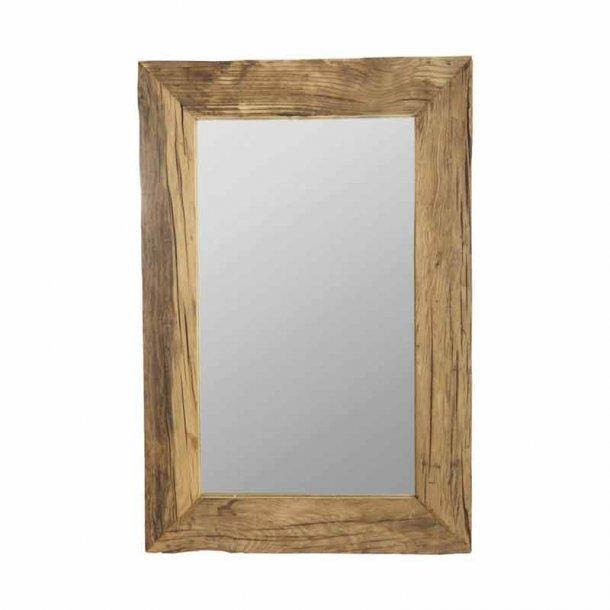 spejl med træramme Spejl pure nature   House Doctor unik spejl med bred træramme spejl med træramme