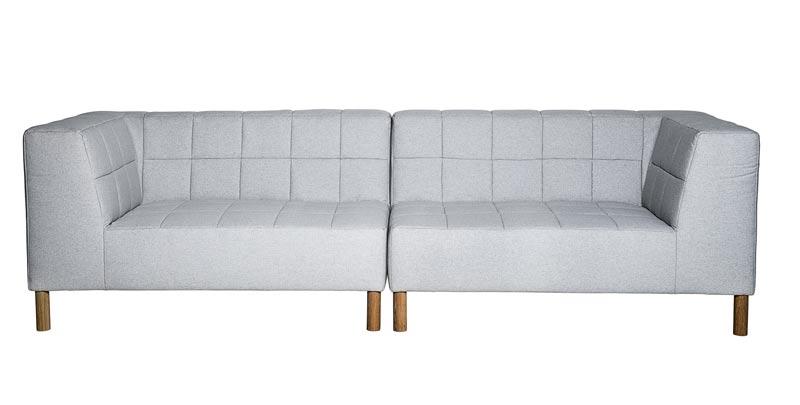 Image of   Bloomingville Chubby sofa - lysgrå/melange 260