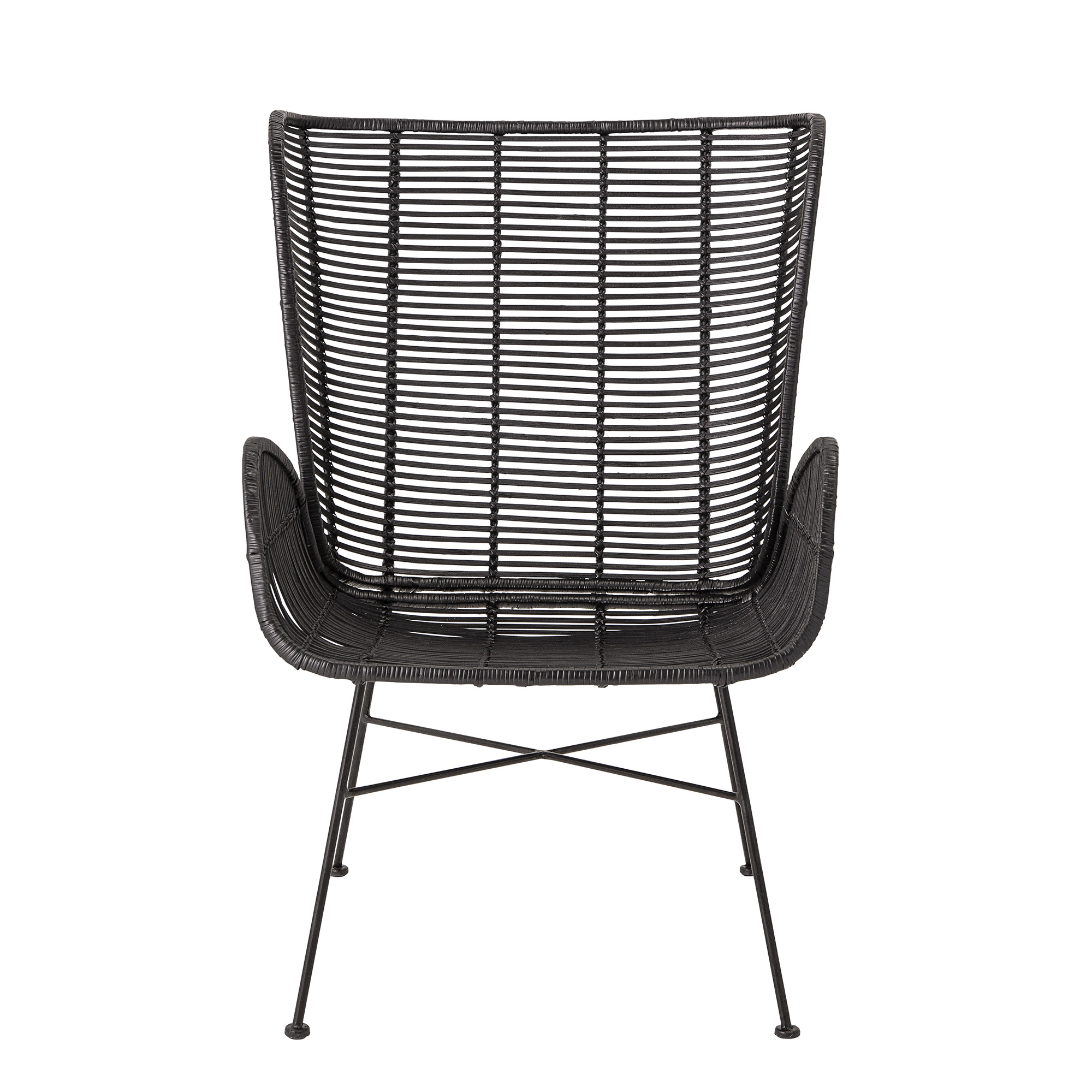 Image of   Bloomingville - Erika Lounge Stol - Sort Rattan