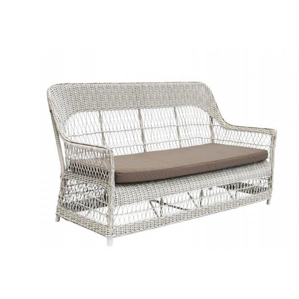 Lounge havesofa hvid Dawn - 3 pers.