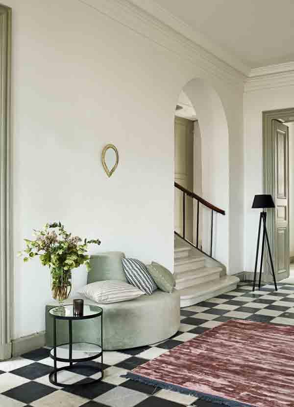 tne k home dayhotel puf halvcirkel med rygl n i velour. Black Bedroom Furniture Sets. Home Design Ideas
