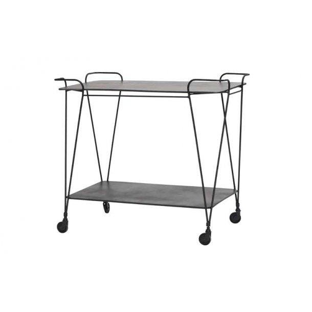 Fremragende Rullebord i sort metal med hjul - let og enkelt design ZK43