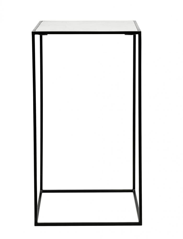 Billede af Nordal CUBE sidebord i jern m/marmor/sort/hvid - 100