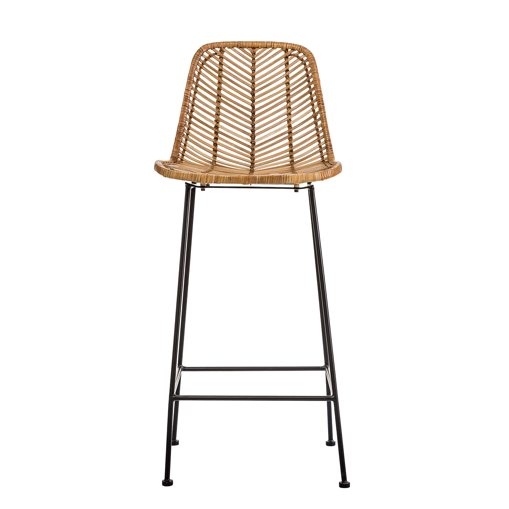 Image of   Bloomingville Fay Bar Stol - Natur Rattan