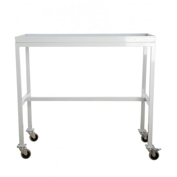 Rullebord / konsolbord med hjul - hvid