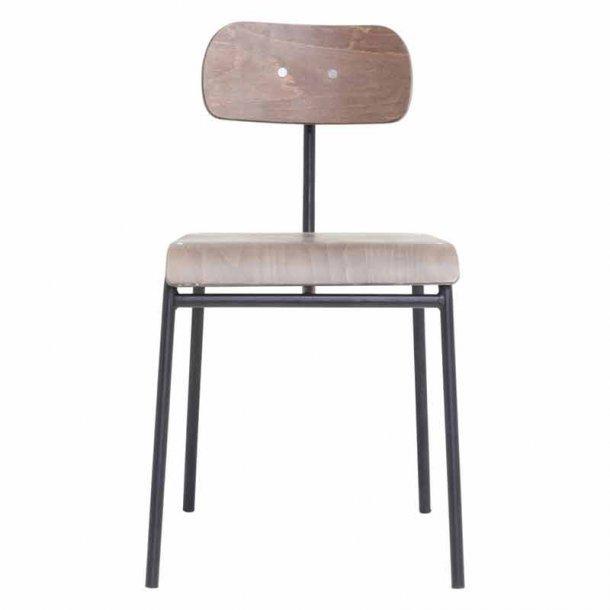 Spisebordsstol - School - mørkebrun