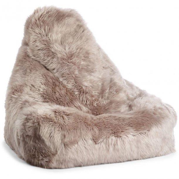 Sækkestol i langhåret New Zealand skind - Dove