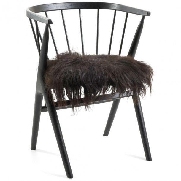 Seat cover - Islandsk fåreskind - sort - 40x40 cm