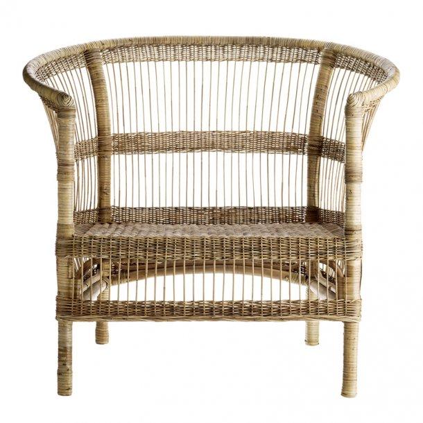 Lounge stol Rattan natur - bred