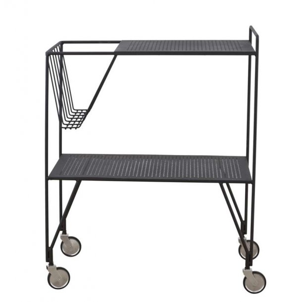 Trolley / rullebord USE sort - med magasinholder