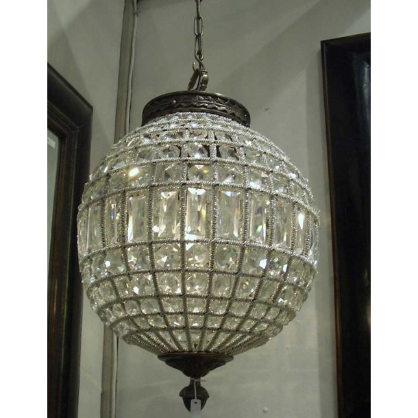 Hængelampe Crystal lampe rund - dia. 35 cm