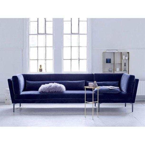 Rox sofa - blå velour - 293 cm