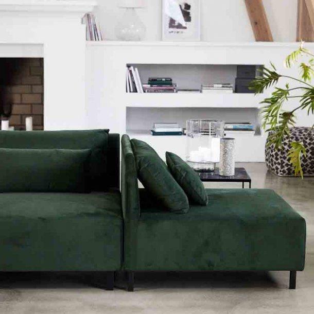 Sofa modul med 2 puder - belunga grøn