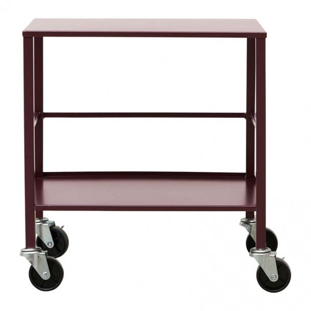 Trolley / rullebord office - dyb rød