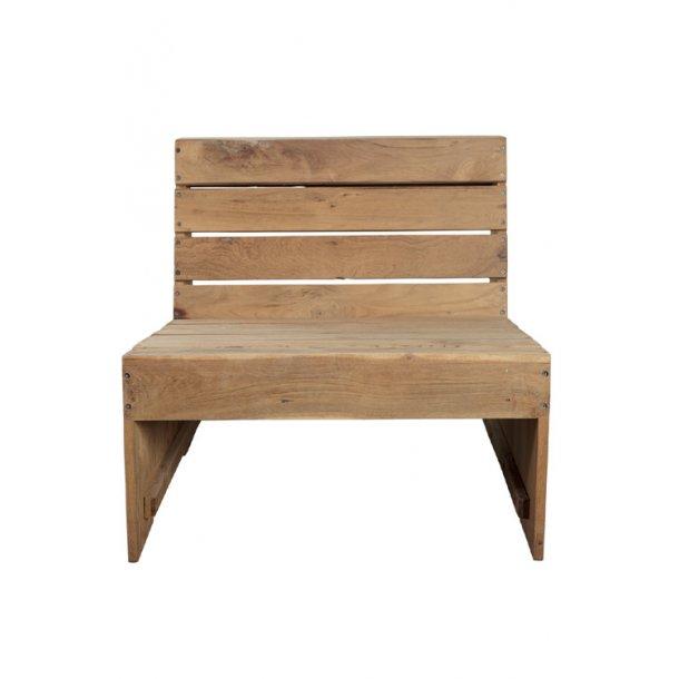Lounge stol Woodie teak - udendørs
