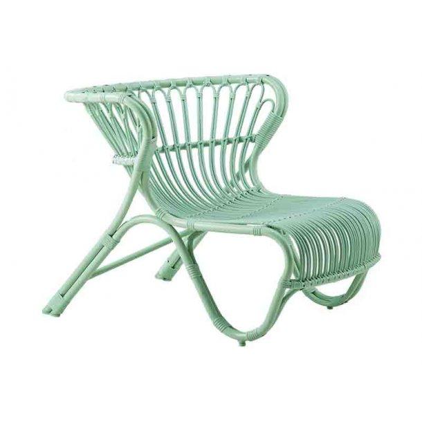 Fox stol - mint grøn - alu rattan - udendørs