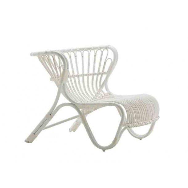 Fox stol - hvid - alu rattan - udendørs