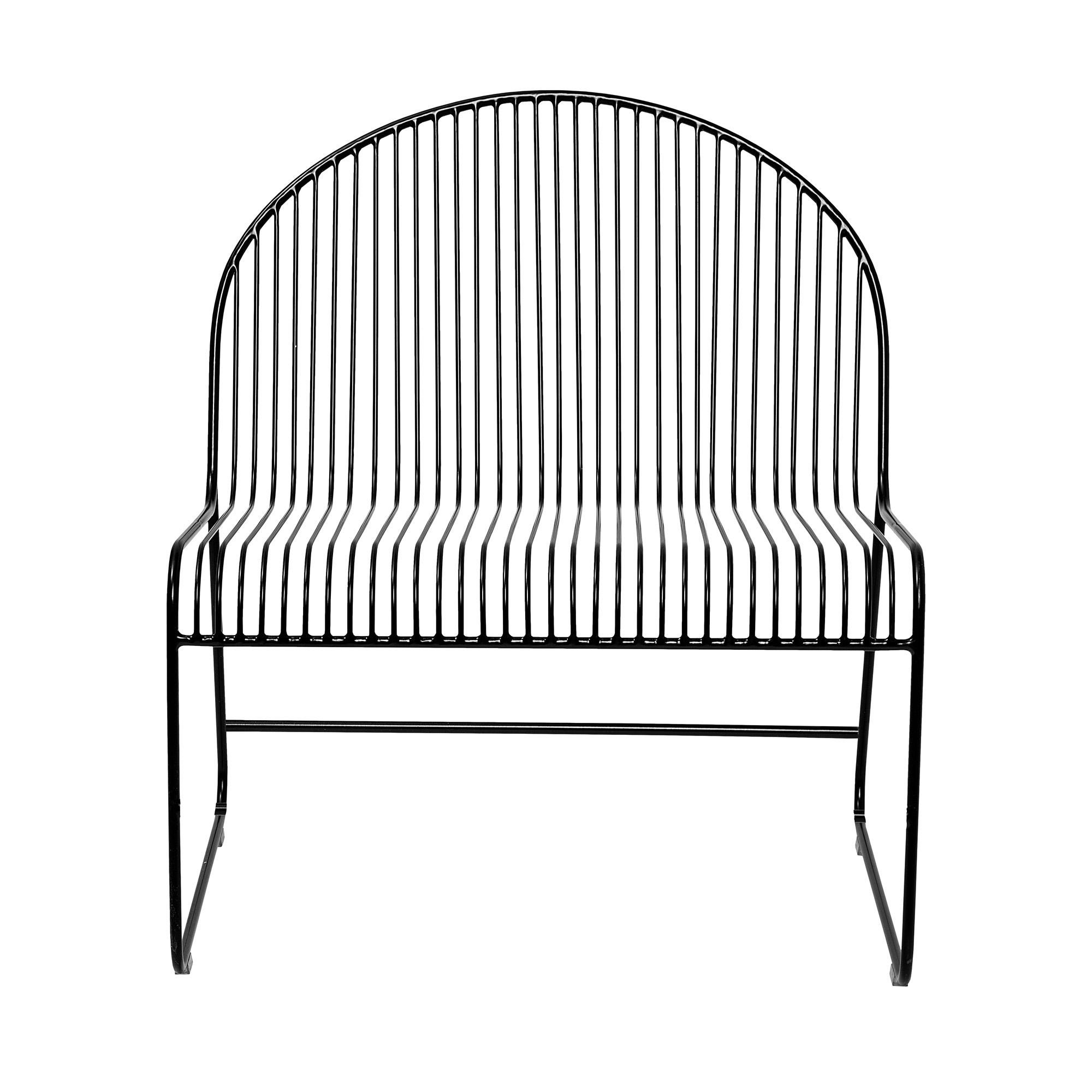Image of   Bloomingville - Friend Lounge Stol - Sort Metal